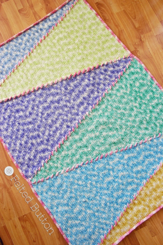 Felted Button Colorful Crochet Patterns Sally Blanket Ta Dah