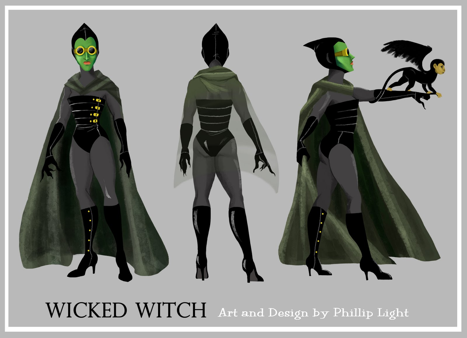 The Art of Phillip Light: The Witches of Oz Redesign