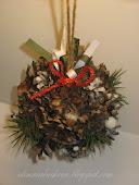 Мой МК - *Рождественский сосновый шар*