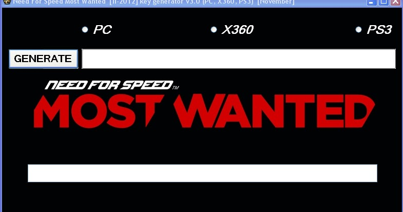 need for speed most wanted ii 2012 key generator v3 0. Black Bedroom Furniture Sets. Home Design Ideas