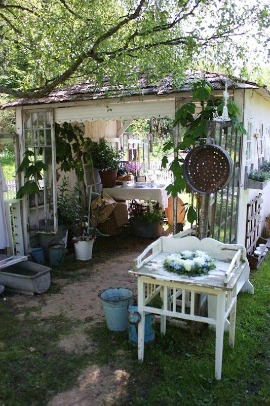Singlar i trevlig trädgård nc