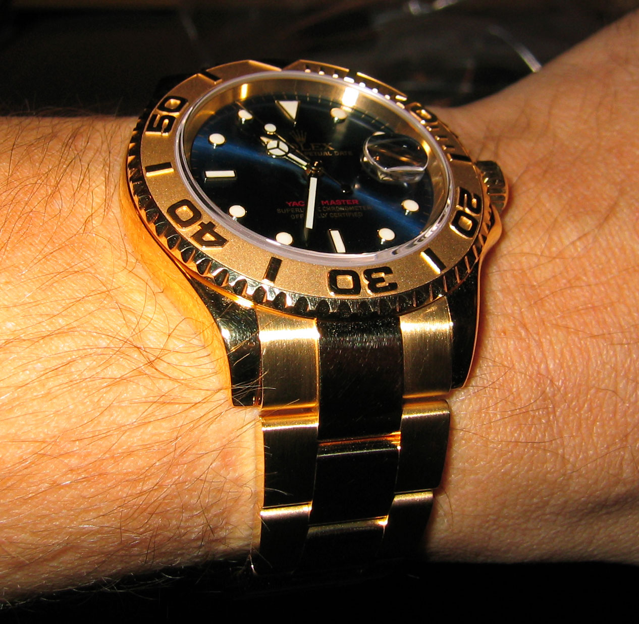 Rolex Yachtmaster Rose Gold On Wrist