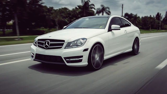 Mercedes-Benz C63 White HD Wallpaper