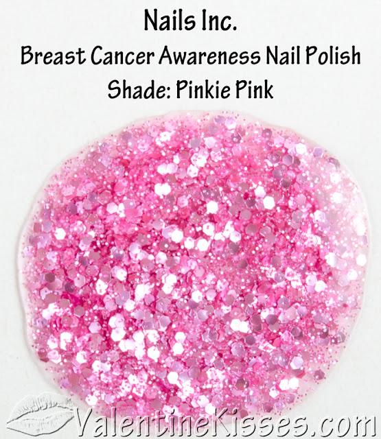 Valentine Kisses: Nails Inc. Breast Cancer Awareness Nail