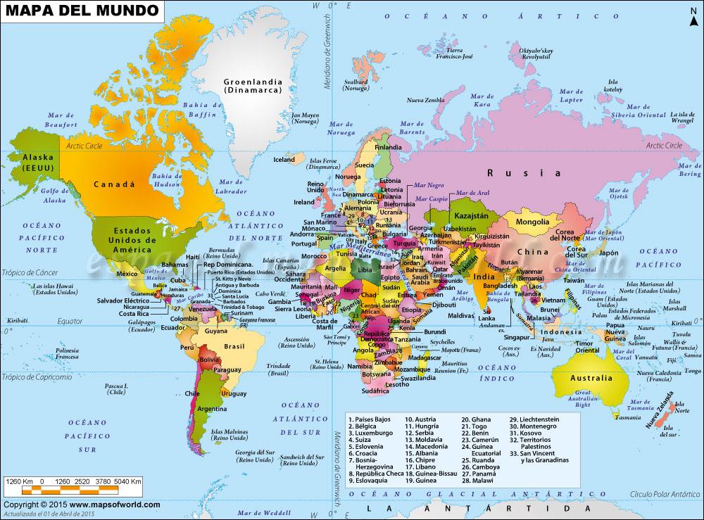 Resultado de imagen de mapa mundi politico santillana