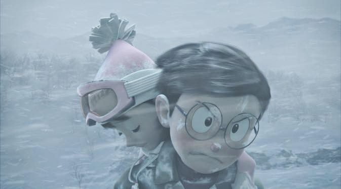 Ketika Nobita Berteriak di Padang Salju
