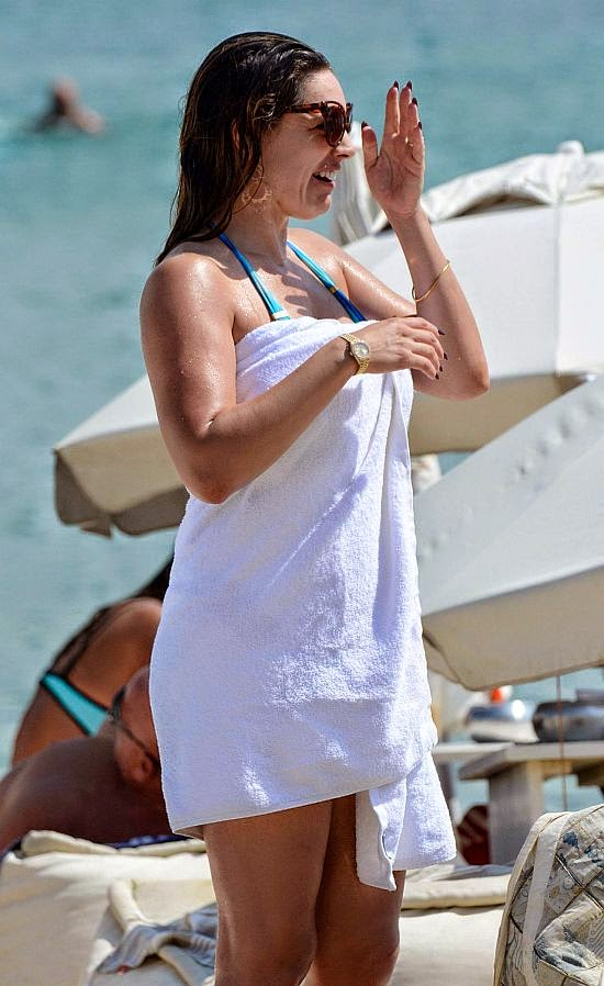 Seriously we think there's a good chance the two-piece was invented just for her. With just a sky blue bikini, the 34-year-old made sure all eyes were on her incredible physique as she cooled off in the ocean of Mykonos, Greece on Tuesday, September 16, 2014.