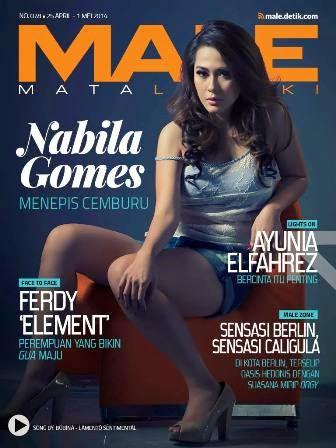 Majalah MALE Mata lelaki Edisi 78 Cover Model Nabila Gomes