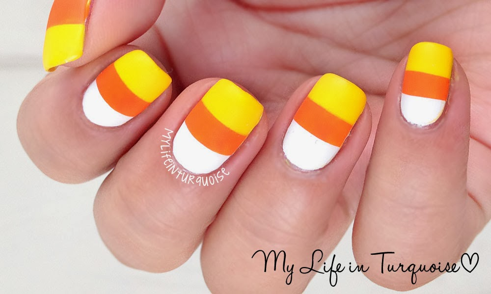 My life in turquoise halloween nail art candy corn 26 october 2013 prinsesfo Image collections