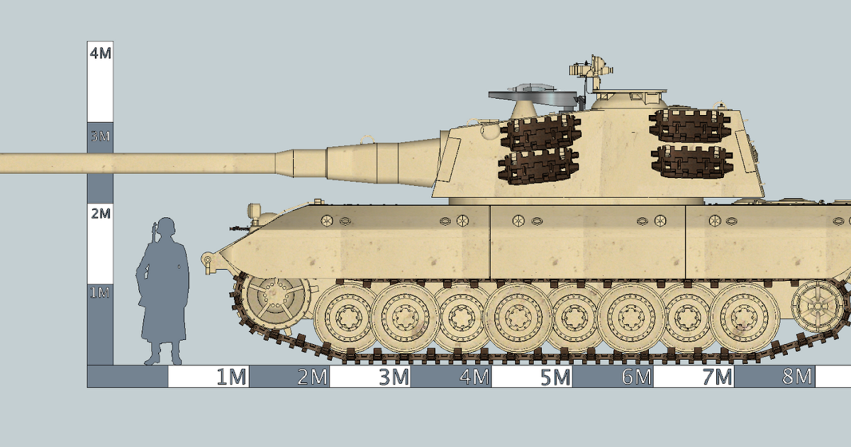 SketchUP Power 草圖力量: E-100 Ausf B Tiger-Maus with X7 Anti-tank Missile ( X7 小紅帽反坦克綫控導彈)