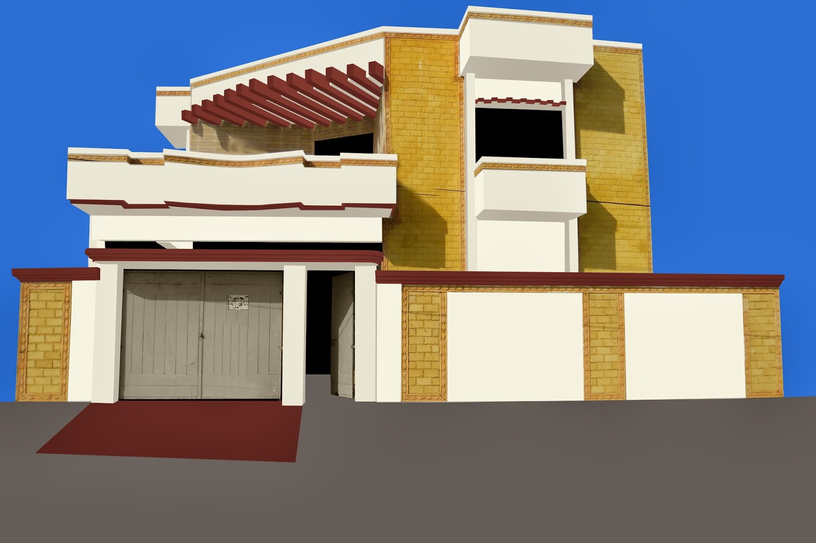 Front Elevation Tiles Combination : Paints of ideas pakistan front elevation the color image