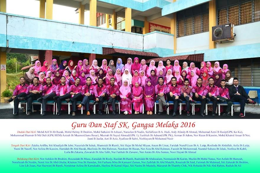 Guru Dan Staf SK. Gangsa 2016