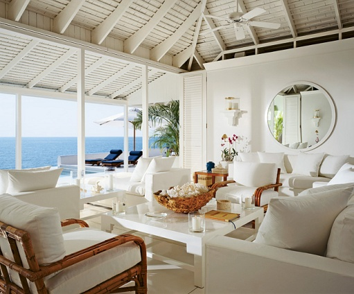 Beautifully seaside formerly chic coastal living island for Living room designs in jamaica