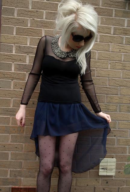 Sammi Jackson - Waterfall skirt & jeweled collar