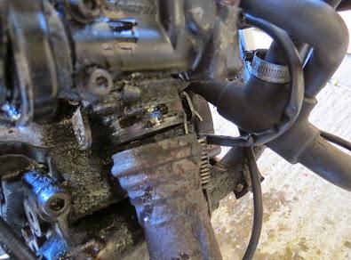 Cagiva Mito 125 exhaust removal