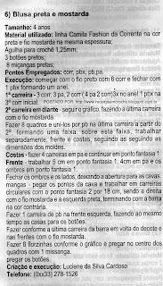 RECEITA DE BLUSA PARA MENINAS EM DUAS CORES EM CROCHE