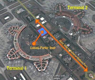 Gambar diatas adalah peta umum dari bandara soekarno hatta.