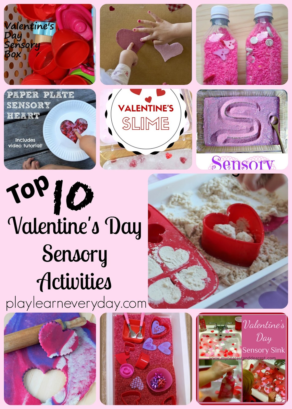 top ten valentine's day sensory activities - play and learn every day, Ideas
