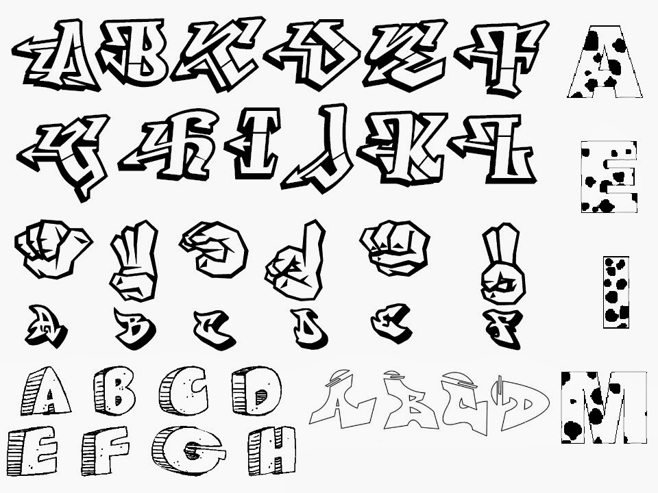 Graffiti creator styles graffiti letters stencils for Different kinds of alphabet letters