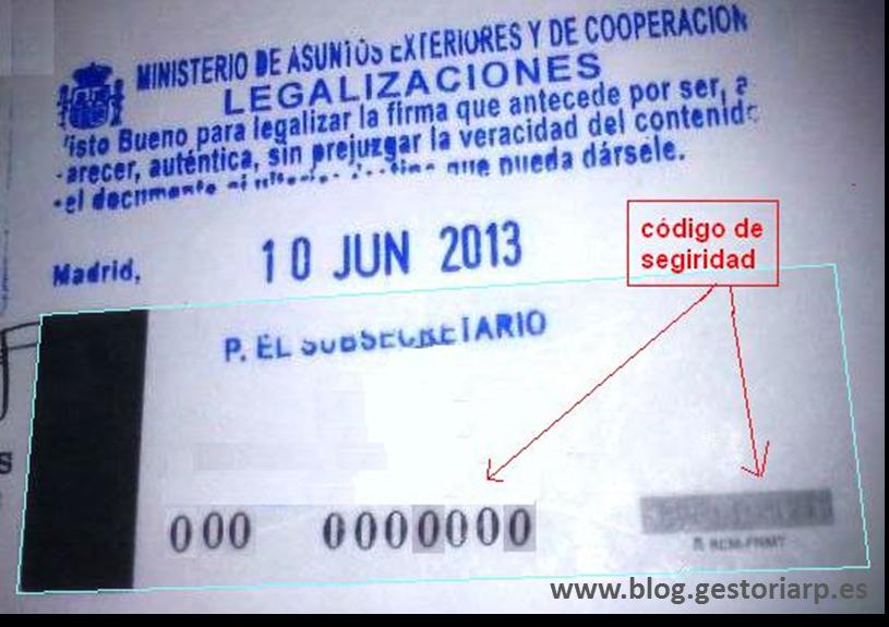 Legalización de documentos extranjeros.