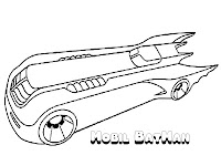 Bat Mobile Coloring Pages Printable