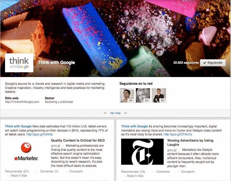 Paginas de producto de LinkedIn - Think with Google
