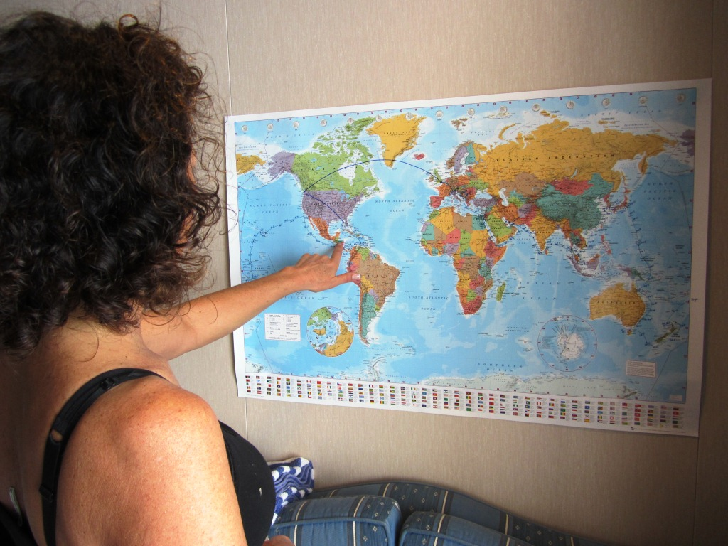 krissie was looking at the map to see which new countries we would be visiting in south and central america she has been to columbia before i have not