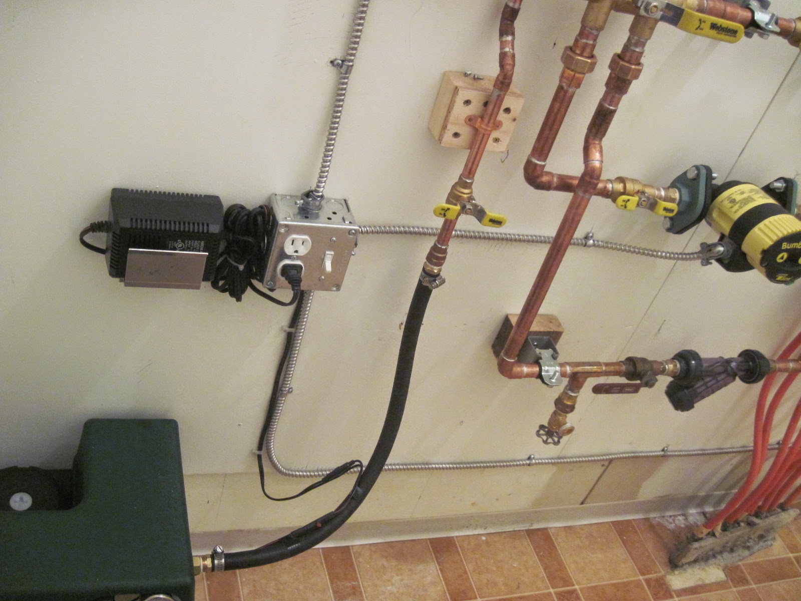 Hydronic System For Attached Garage 2014 Taco Pump Electrical Wiring Here Is The Completed With Ready To Be Filled