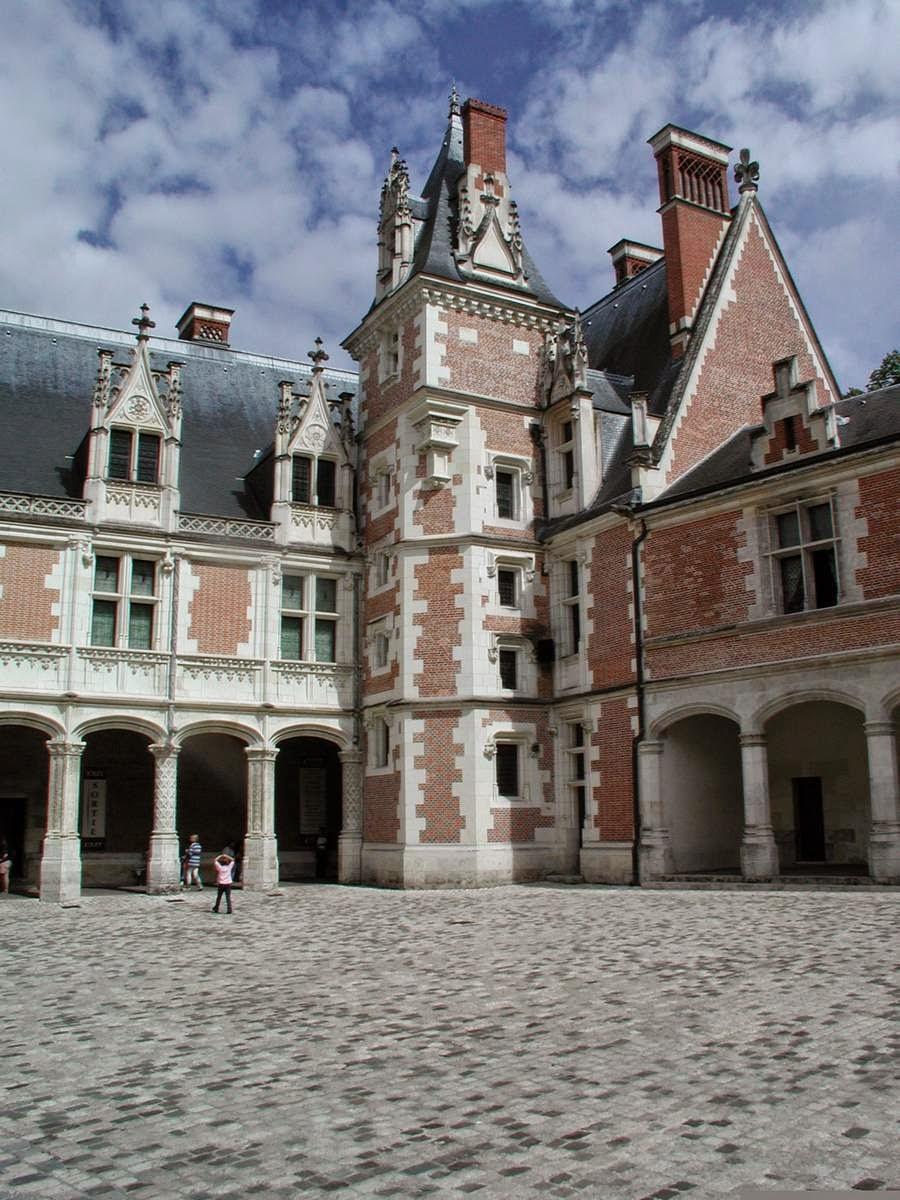 Gotische vleugel van het kasteel van Blois, Frankrijk