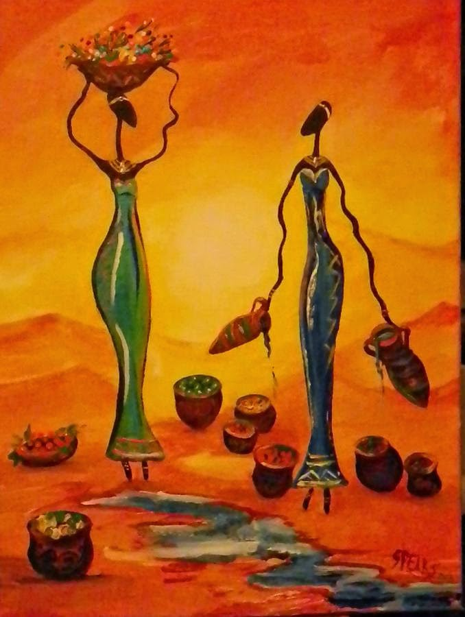 african women artwork