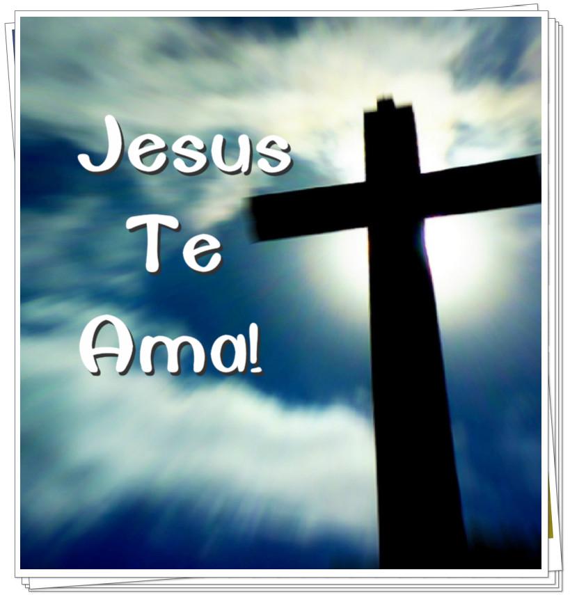 Frase Jesus Te Ama para Google+ Facebook Whatsapp