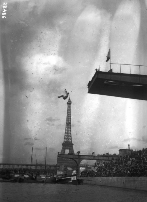 Diving Over the Eiffel...