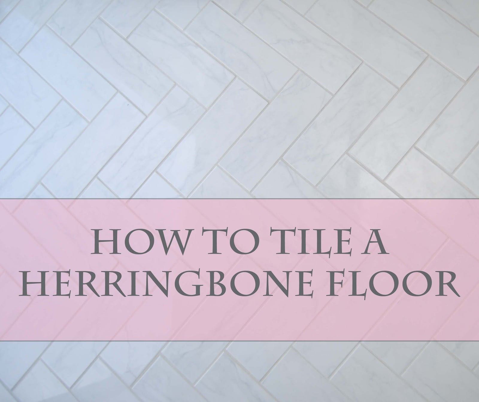 How to tile a herringbone floor part i