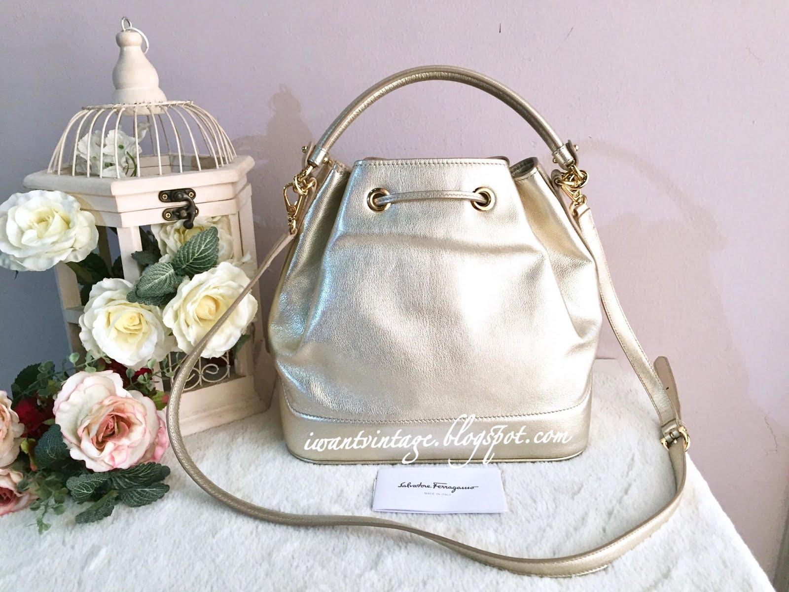 I Want Vintage   Vintage Designer Handbags  Salvatore Ferragamo ... 824bee1507