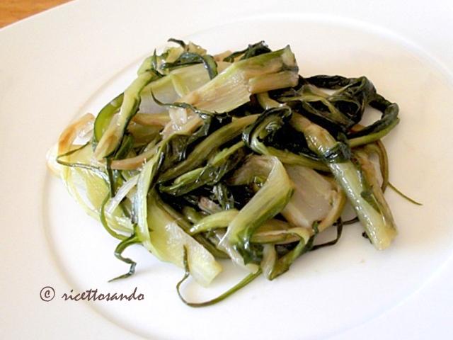 Puntarelle saporite ricetta di contorno di verdura