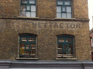 Ghost sign on Curtain Street, Shoreditch, London EC2