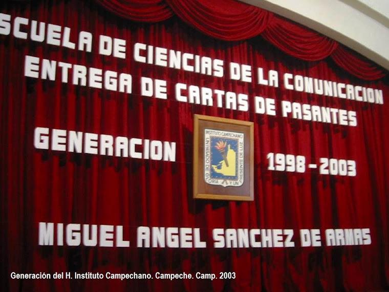 """Generación """"Miguel Ángel Sánchez de Armas"""" I"""