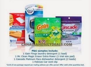 Canadian Daily Deals P G Brandsampler Free Fall Sampler Pack Shoppers Voice
