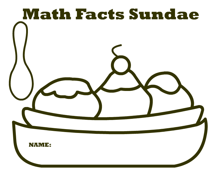 Math Facts Sundae Printable | Meeting the Educational Demands of STEM
