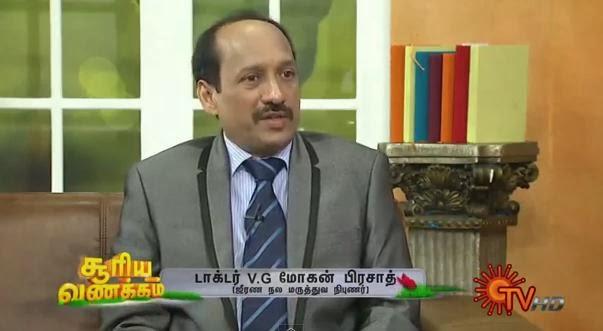 Virundhinar Pakkam – Sun TV Show 02-01-2014 Gastroentrologist Dr.V.G .Mohan Prasad