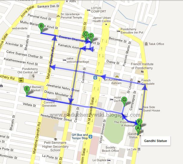 Tourists Places To Visit In Pondicherry Puducherry India - Pondicherry map