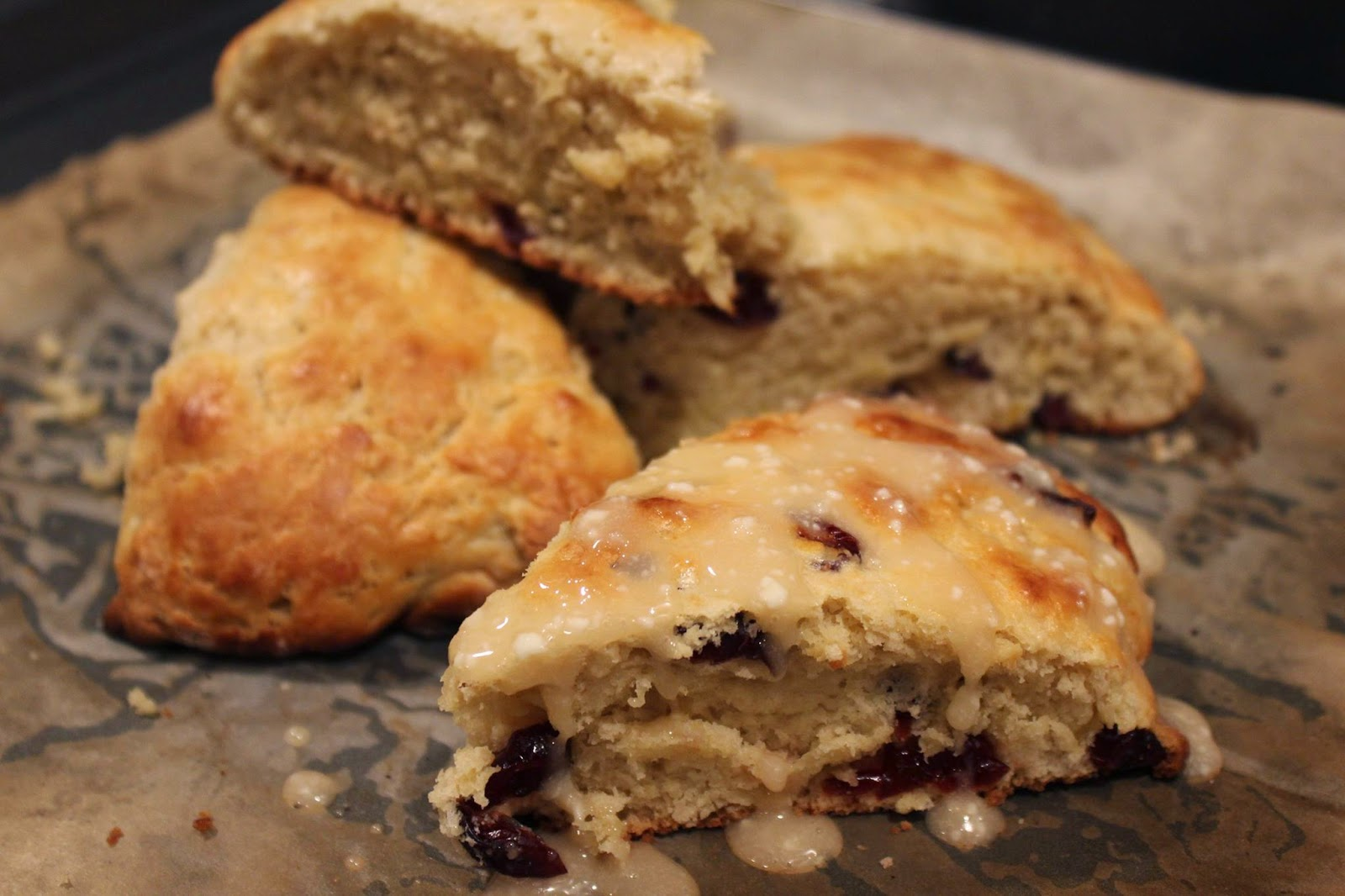 From my tiny kitchen...: Buttermilk Lemon Cranberry Scones