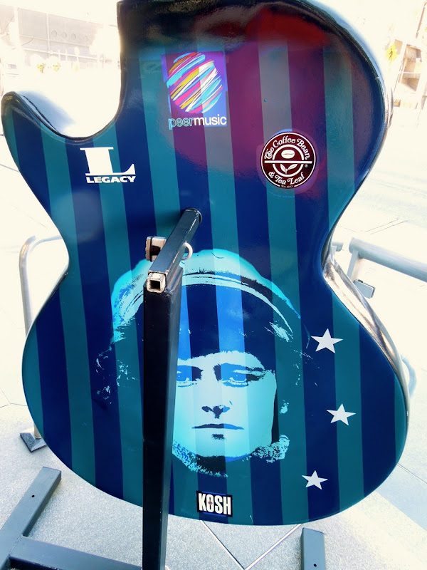 Cosmic Essence Donovan homage guitar back