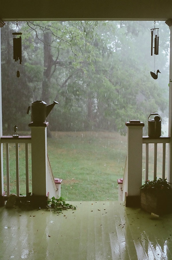 summer rain porch