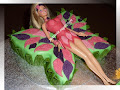 Barbie Mariposa Chocolate cake
