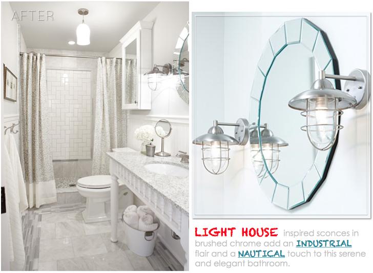 Design Maze BigBox Challenge w Sarah Richardson Bathroom Lighting
