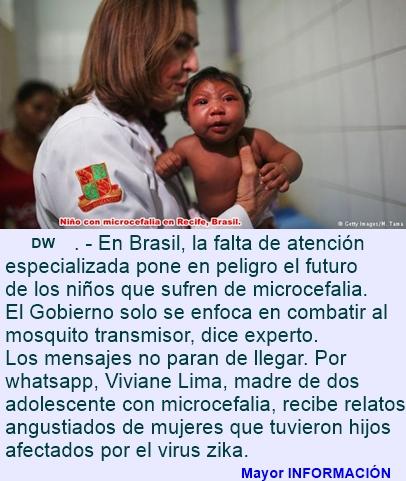 El desamparo de las víctimas de microcefalia
