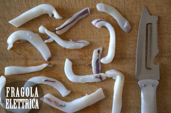Linguine con Calamari e Pecorino