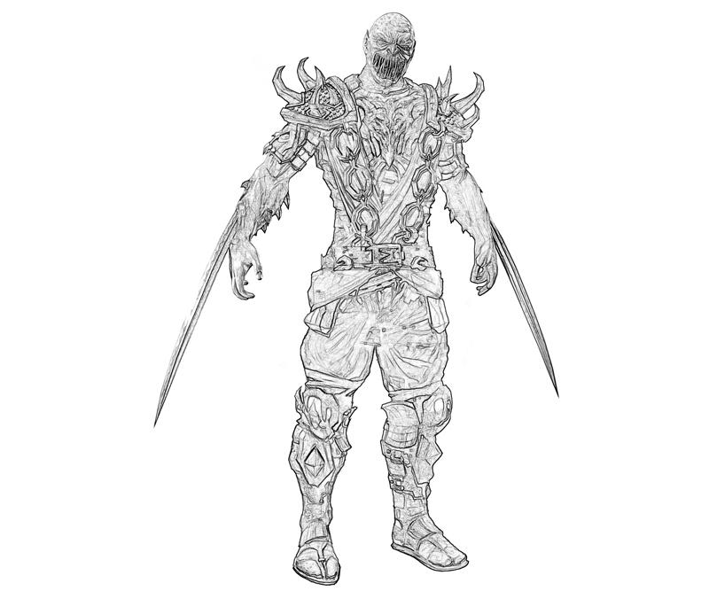 Printable Mortal Combat Baraka Cartoon Coloring Pages title=