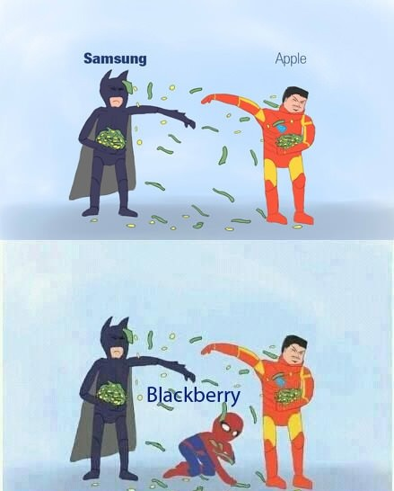 Samsung blackberry apple comic funny